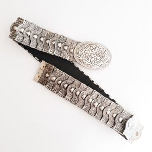 Vintage Silver Metal Stretch Belt Size M-L